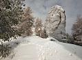 Sníh v únorovém Českém Švýcarsku